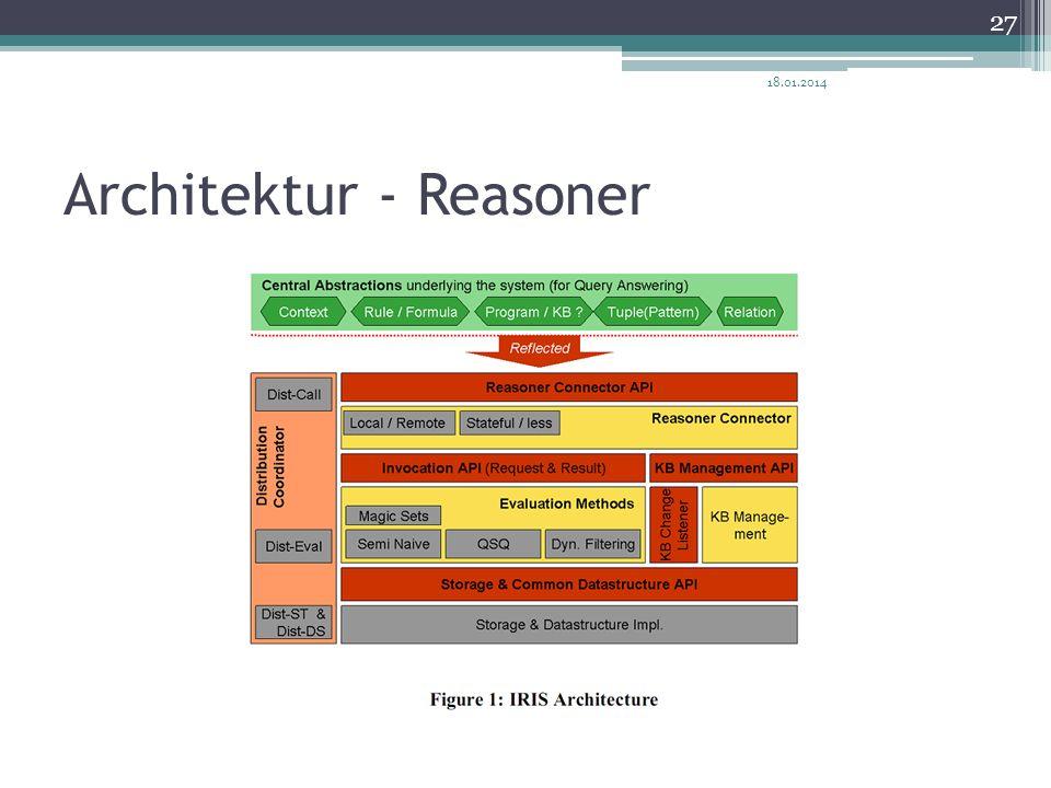 Architektur - Reasoner 18.01.2014 27
