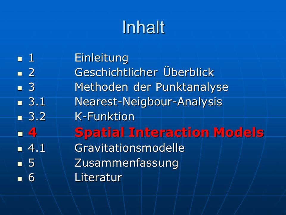 Inhalt 1Einleitung 1Einleitung 2Geschichtlicher Überblick 2Geschichtlicher Überblick 3Methoden der Punktanalyse 3Methoden der Punktanalyse 3.1Nearest-