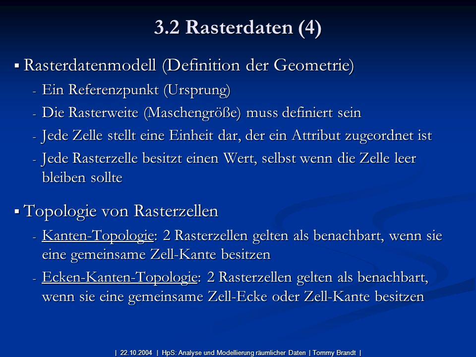 Rasterdatenmodell (Definition der Geometrie) Rasterdatenmodell (Definition der Geometrie) - Ein Referenzpunkt (Ursprung) - Die Rasterweite (Maschengrö