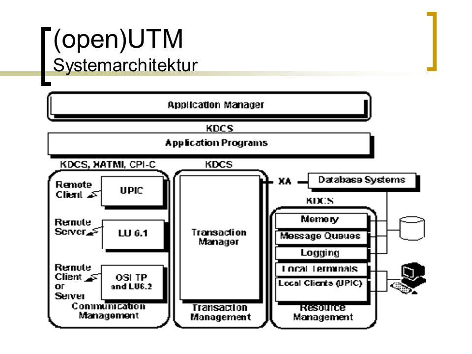 (open)UTM Systemarchitektur