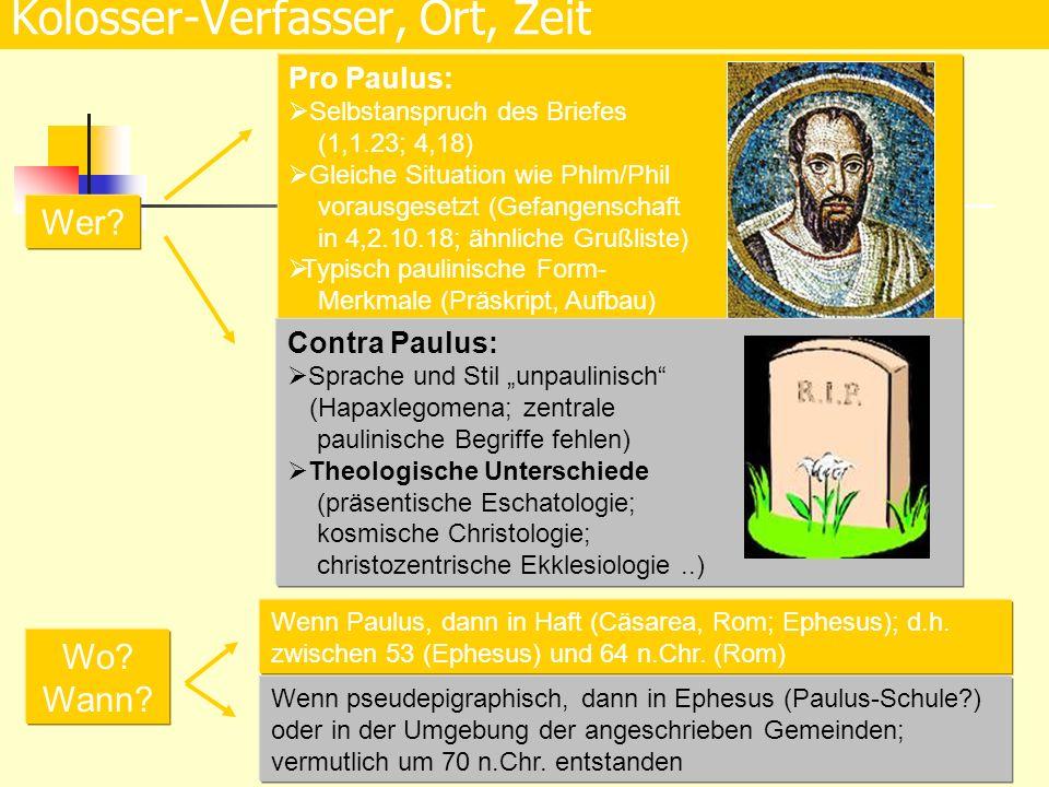 Theologie des Eph: Juden- u.Heiden- christen aufgrund der Apostellehre zur Einheit aufrufen.