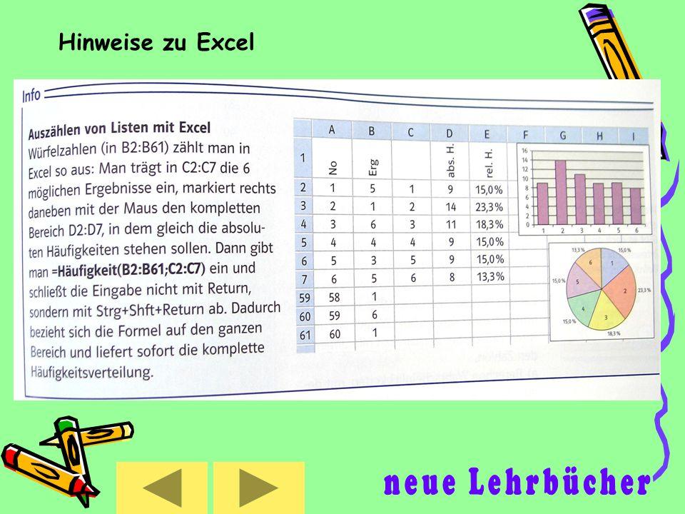 Hinweise zu Excel