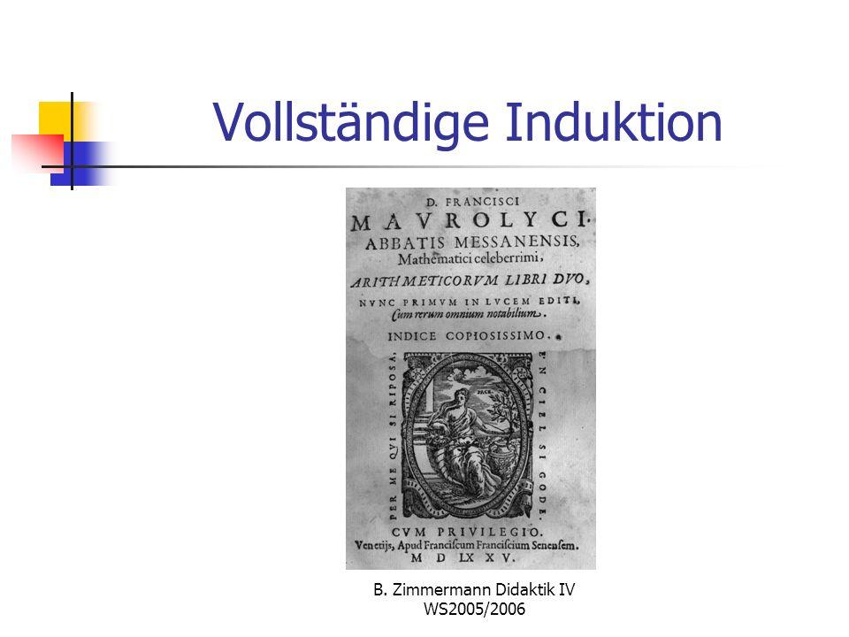 B. Zimmermann Didaktik IV WS2005/2006 Maurolycos (1494 – 1575)