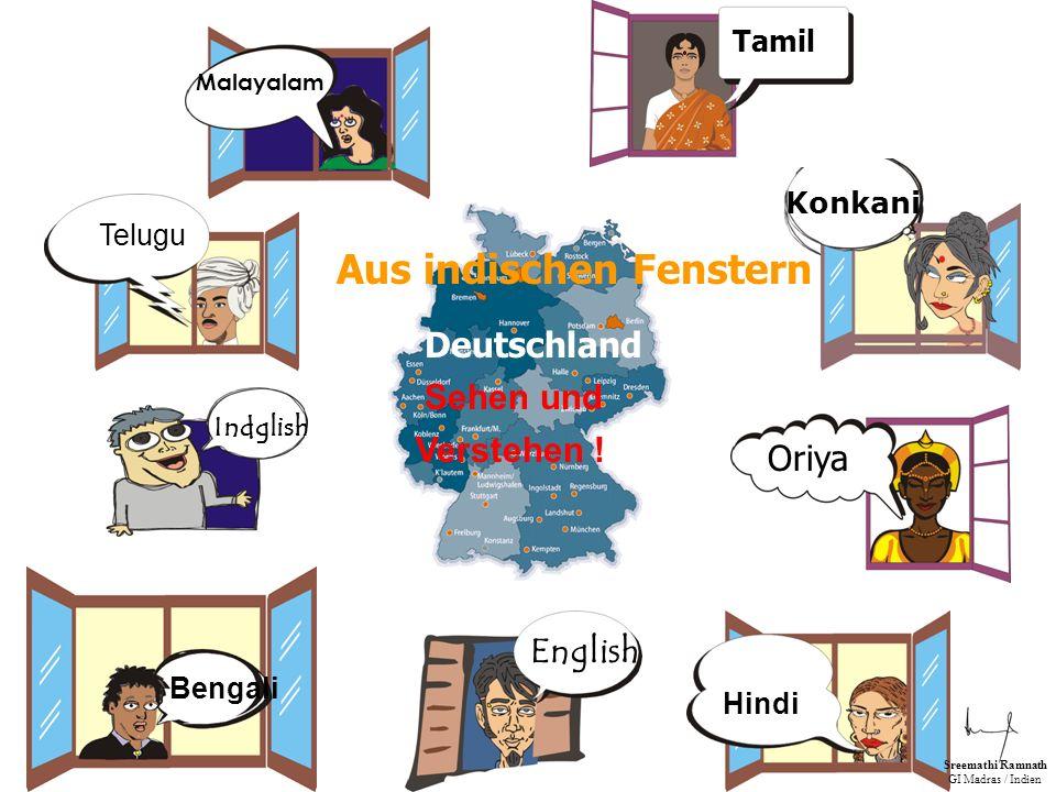 Computersprache Körpersprache Telugu Indglish English Tamil Konkani Oriya Malayalam Deutsch Sreemathi Ramnath GI Madras / Indien