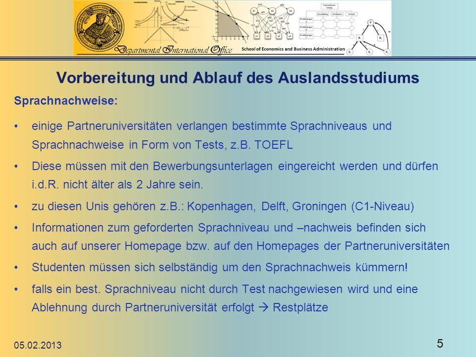 Vorbereitung und Ablauf des Auslandsstudiums Finanzierung: o Erasmusbeihilfe (nicht für bilateral!) beantragen (zw.150 -200 im Monat) Erasmusbeihilfe Frist: 1.07.