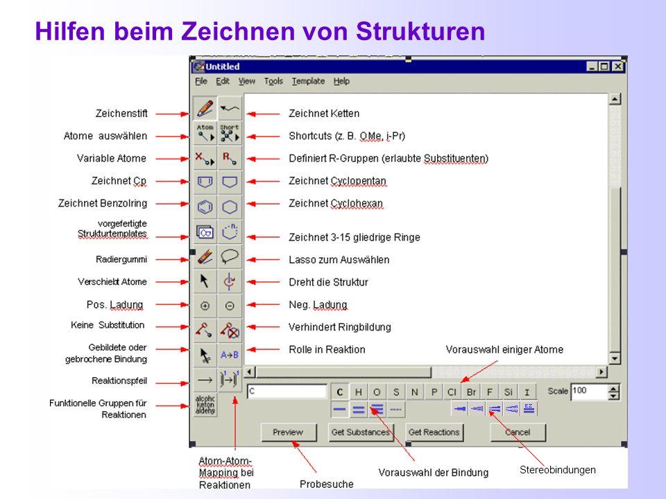 Strukturrecherche Sucht chemische Verbindungen und deren Derivate Textstellen ab 1967