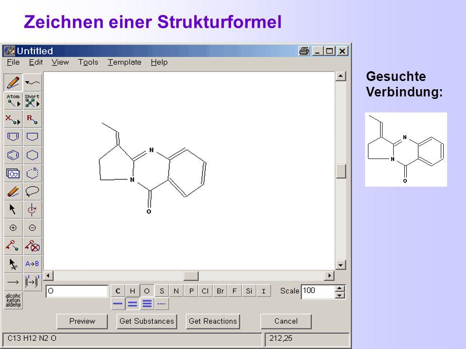 Hilfen beim Zeichnen von Strukturen Stereobindungen