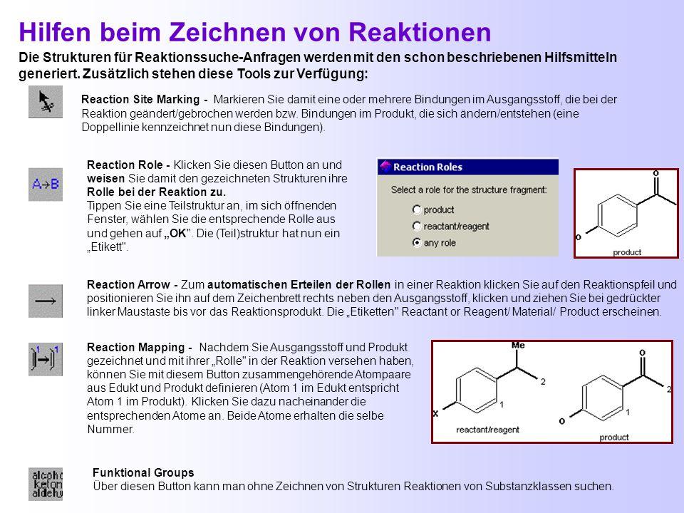 Suche nach Synthesen/Reaktionen über die Struktur Sucht Reaktionen Textstellen ab 1907