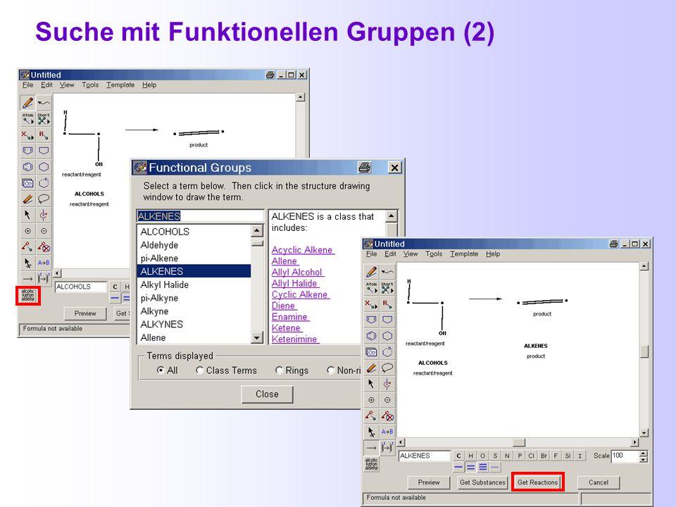Suche mit Funktionellen Gruppen (1)