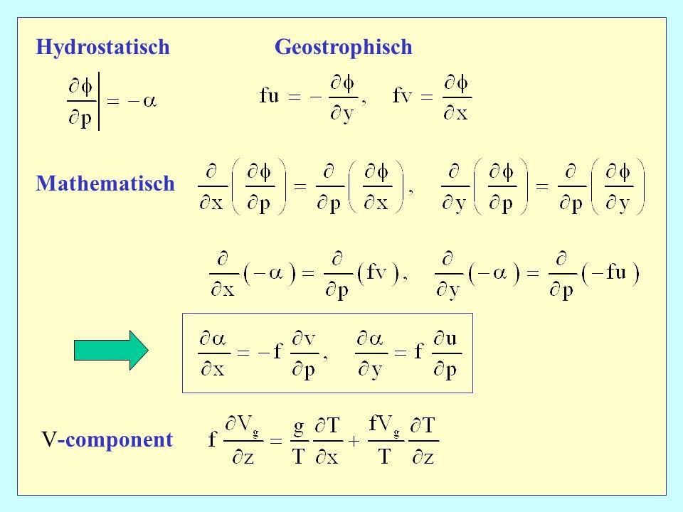 HydrostatischGeostrophisch Mathematisch V-component