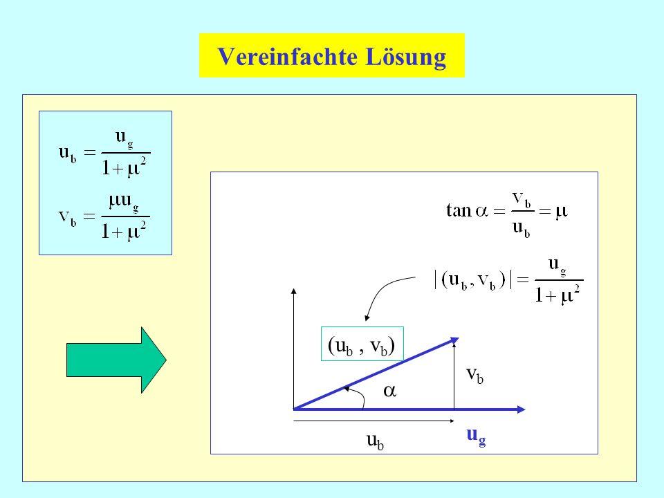 Vereinfachte Lösung ugug vbvb ubub (u b, v b )