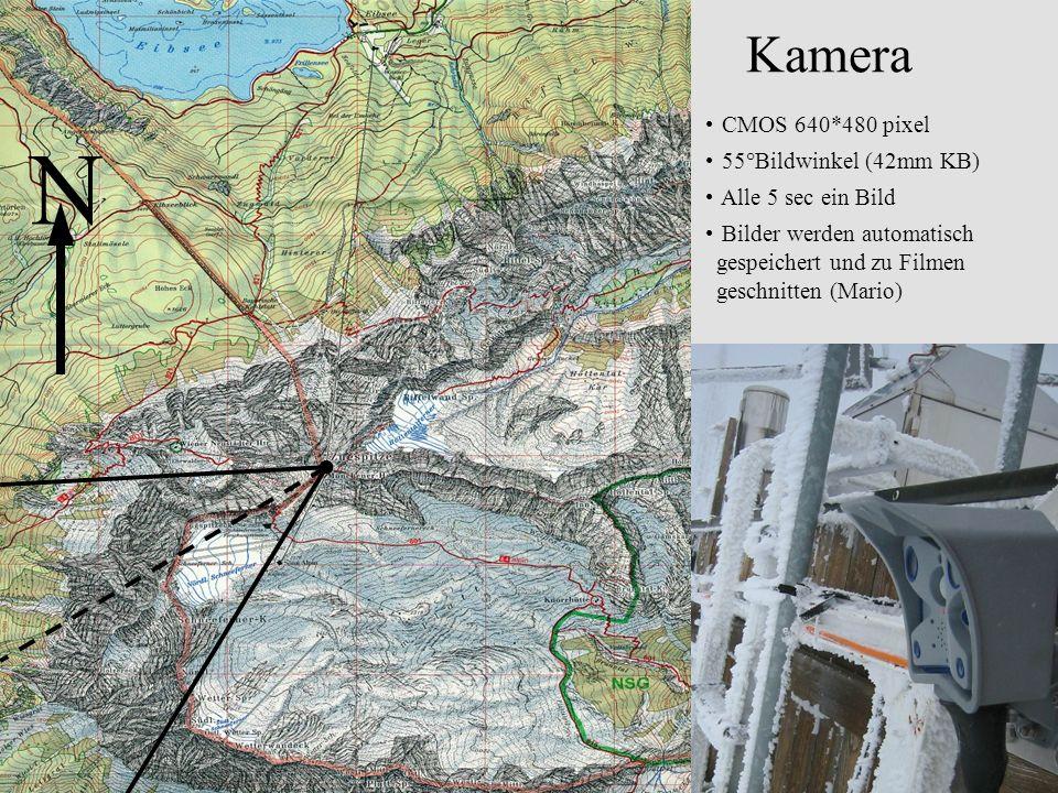 Bild 20.12.2004 Zugspitzeck 2816 m Schneeferner- scharte 2700m Schneeferner- kopf 2874m W SW Ehrwald 1000 m UFS 2656m