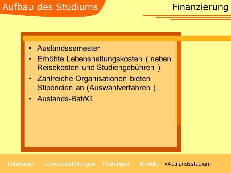 Finanzierung Auslandssemester Erhöhte Lebenshaltungskosten ( neben Reisekosten und Studiengebühren ) Zahlreiche Organisationen bieten Stipendien an (A
