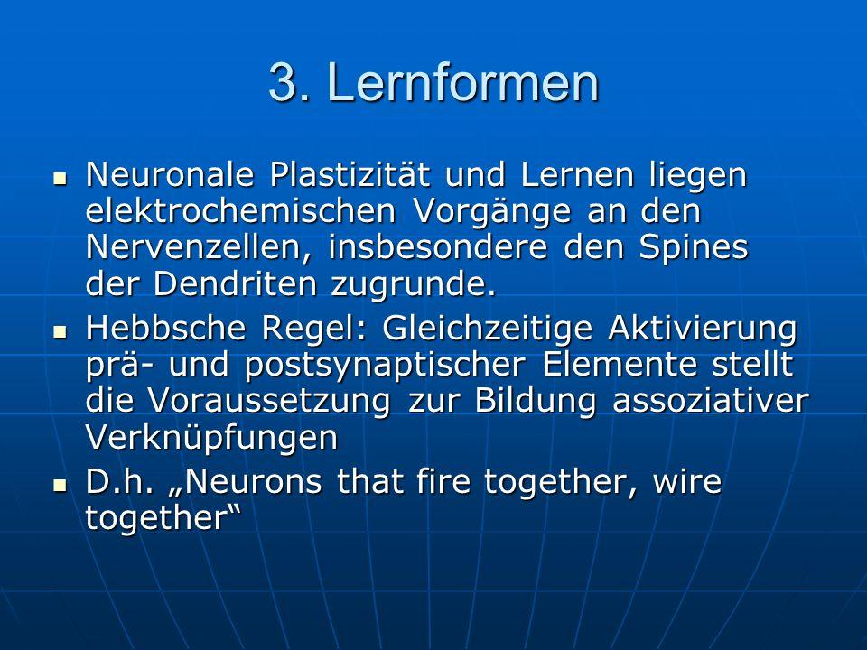 3.Lernformen Einteilung in: 1.