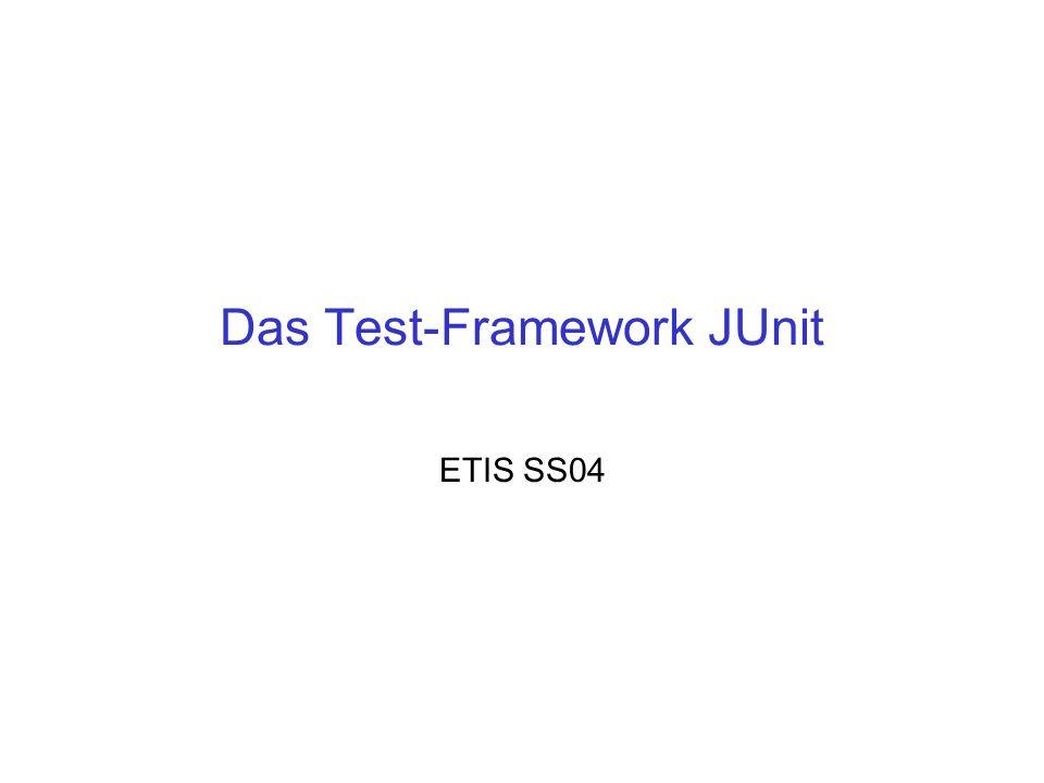Das Test-Framework JUnit ETIS SS04