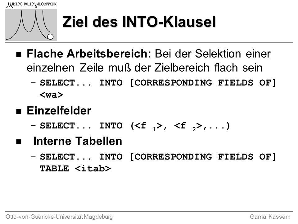 Otto-von-Guericke-Universität MagdeburgGamal Kassem Komplexe Typen n Strukturen - Geschachtelte und nicht-geschachtelte Strukturen.