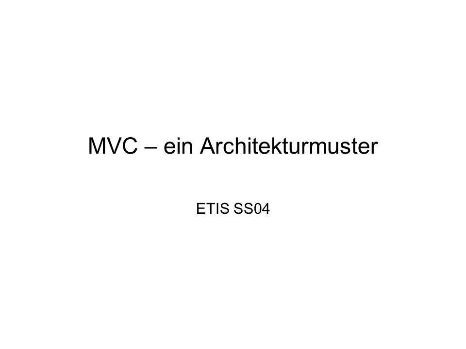 MVC – ein Architekturmuster ETIS SS04