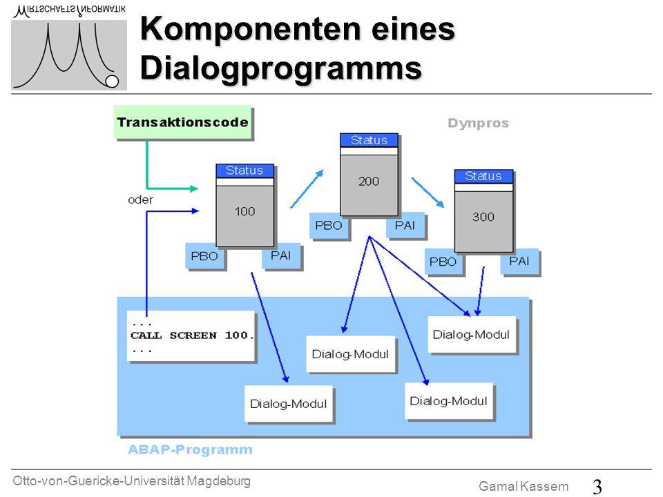 Otto-von-Guericke-Universität Magdeburg Gamal Kassem 3 Komponenten eines Dialogprogramms