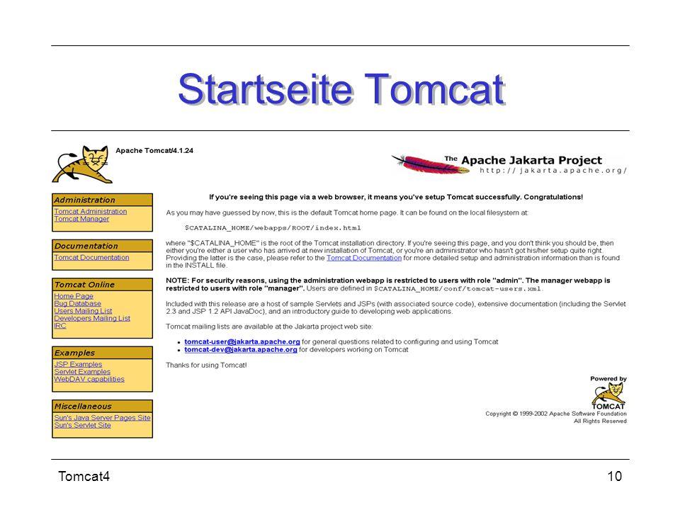Tomcat410 Startseite Tomcat