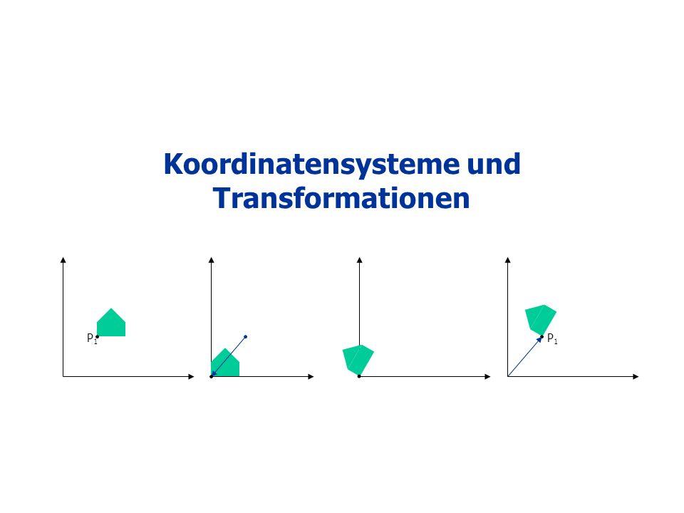 Koordinatensysteme und Transformationen P1P1 P1P1