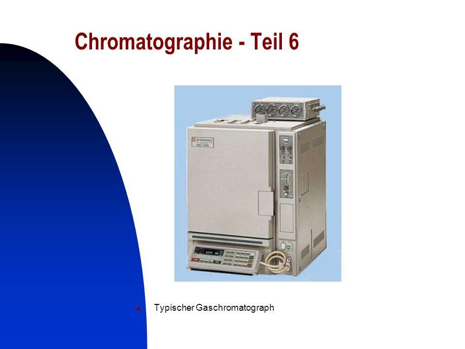 26 Chromatographie - Teil 6 Typischer Gaschromatograph