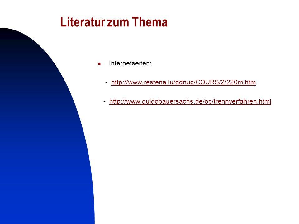 29 Literatur zum Thema Internetseiten: - http://www.restena.lu/ddnuc/COURS/2/220m.htmhttp://www.restena.lu/ddnuc/COURS/2/220m.htm - http://www.guidoba