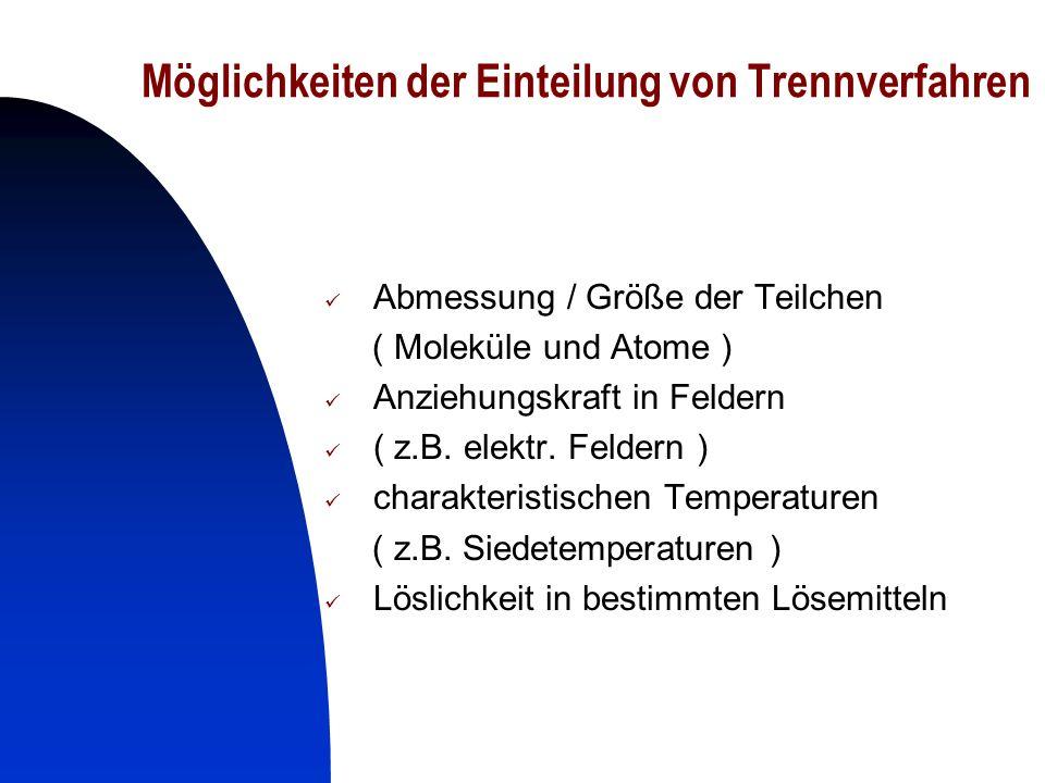5 Legende Stoftrennung nach physikal.Eigenschaften Haupt- trenneig.