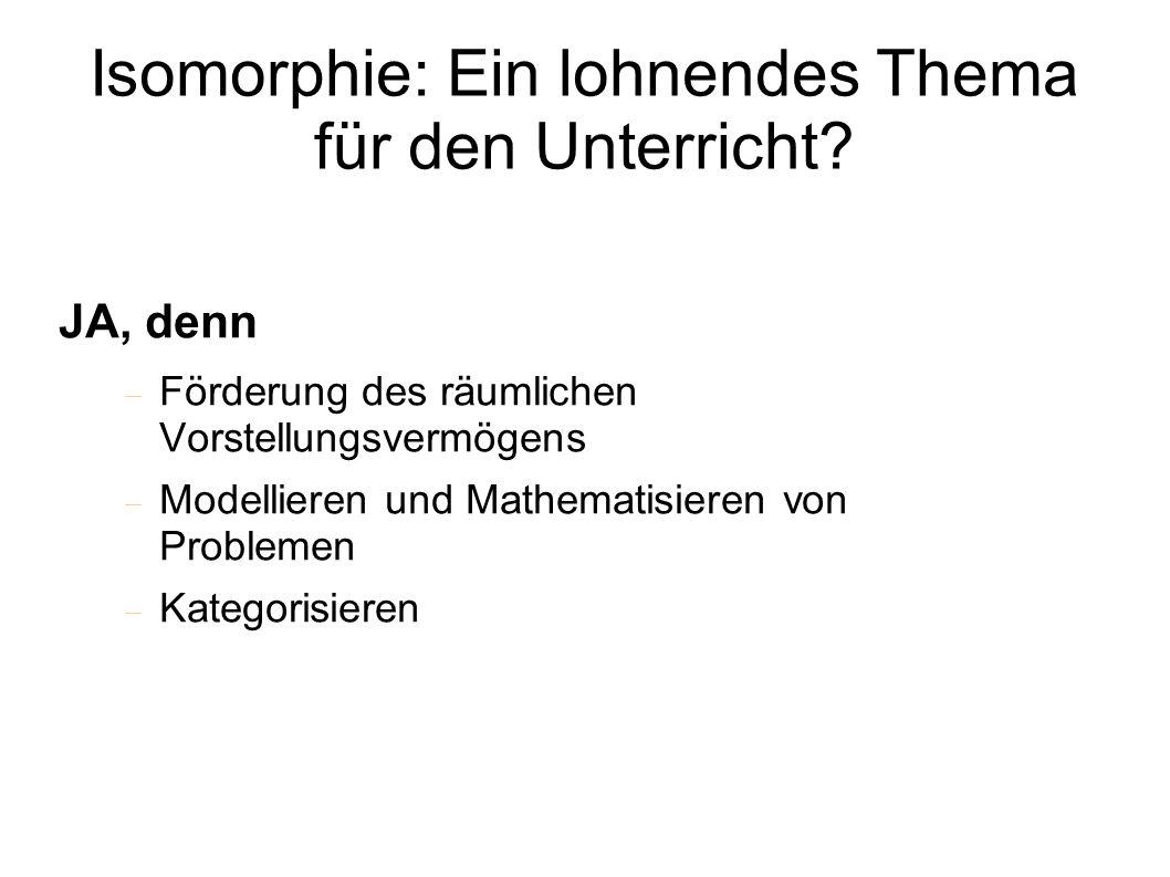 Isomorphie: Ein lohnendes Thema für den Unterricht.