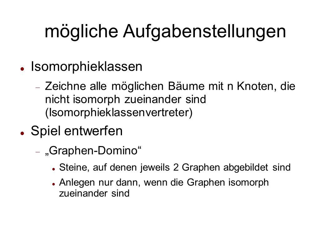 Beispiel Welche Eigenschaften von Graphen geben Auskunft, ob diese isomorph sind.