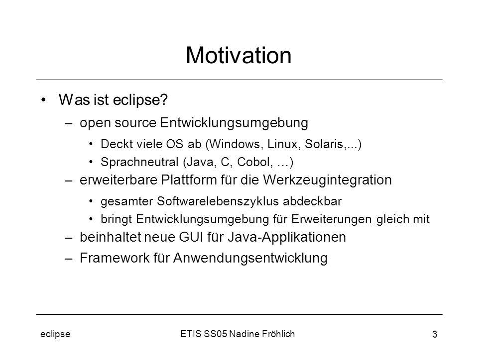 ETIS SS05 Nadine Fröhlicheclipse 3 Motivation Was ist eclipse.