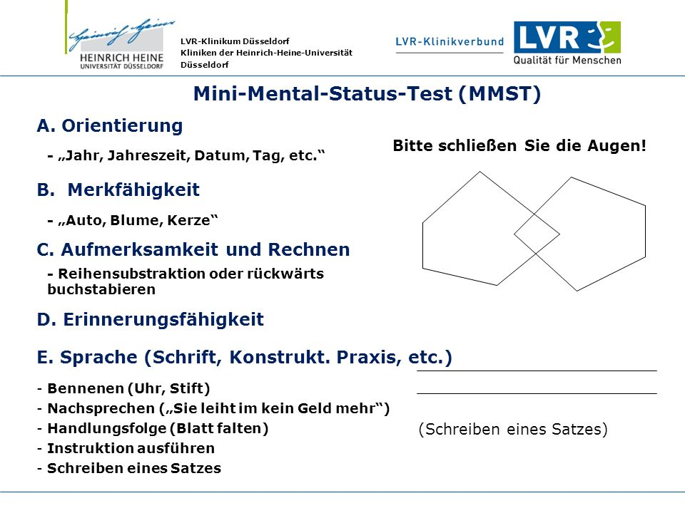 a study of dementia using mini mental state examination mmse and test your memory tym