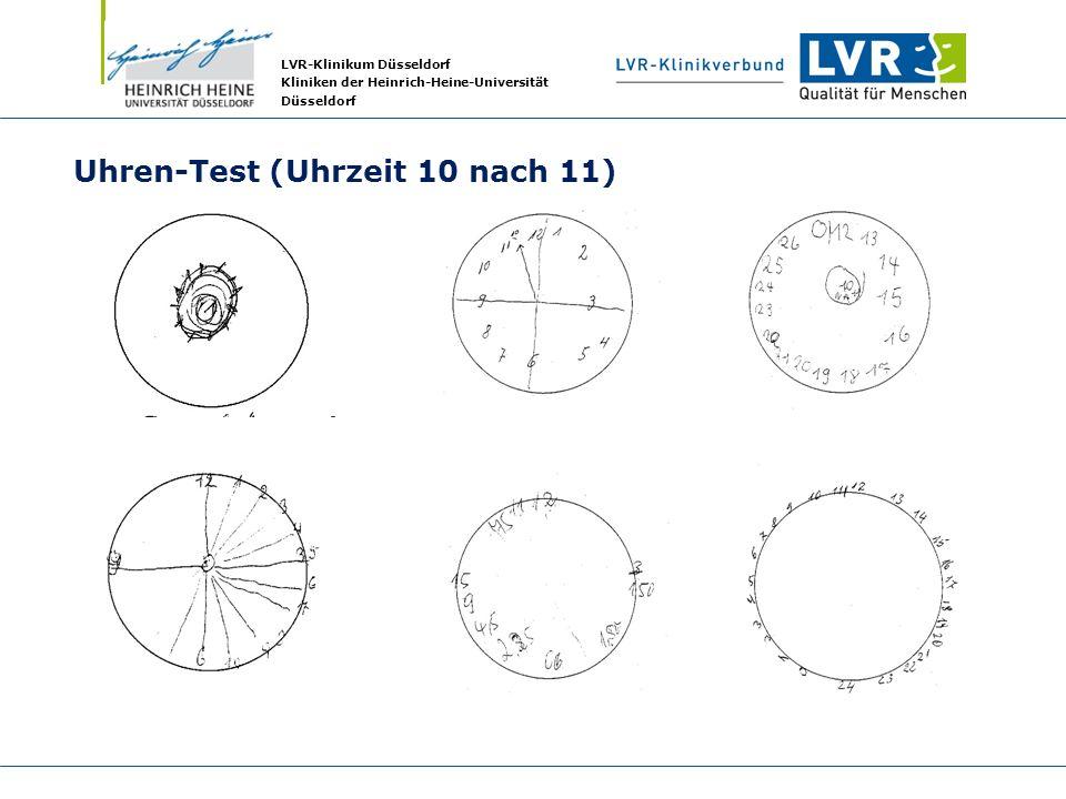 LVR-Klinikum Düsseldorf Kliniken der Heinrich-Heine-Universität Düsseldorf Uhren-Test (Uhrzeit 10 nach 11)