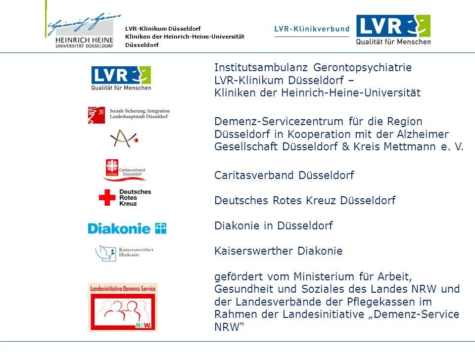 LVR-Klinikum Düsseldorf Kliniken der Heinrich-Heine-Universität Düsseldorf Institutsambulanz Gerontopsychiatrie LVR-Klinikum Düsseldorf – Kliniken der