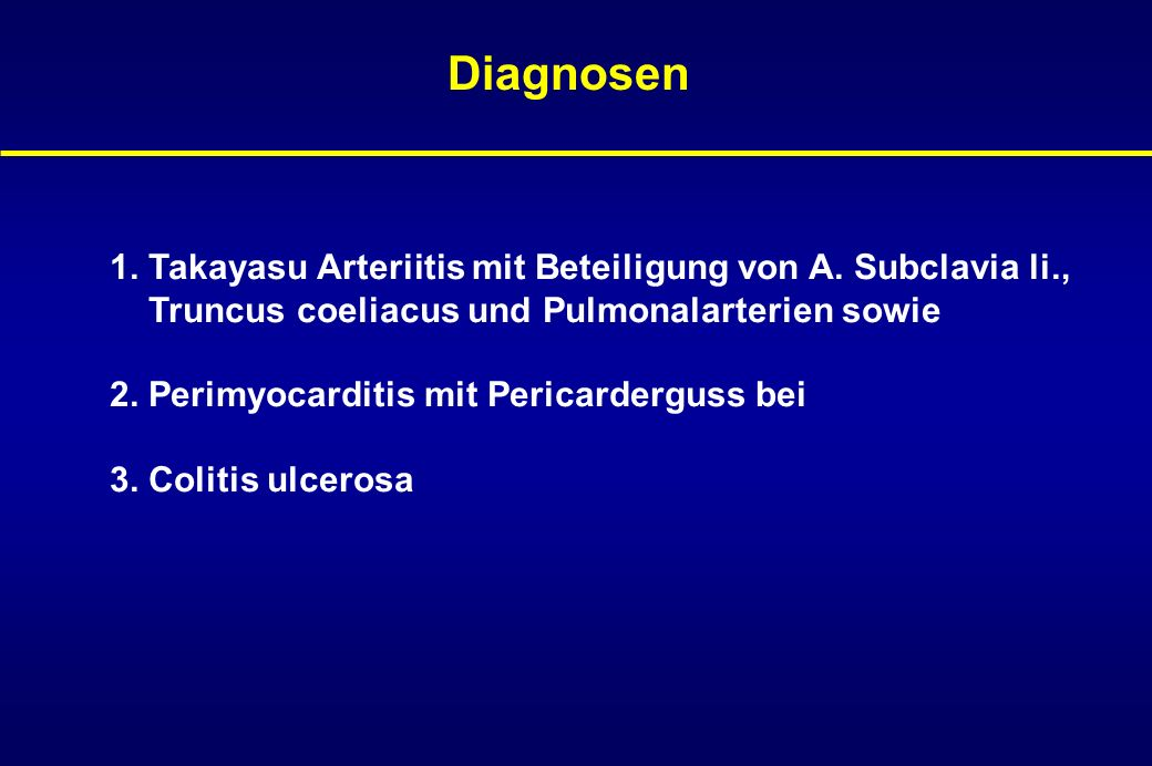 Diskussion Colitis ulcerosa versus ischämische Colitis bei Vasculitis .
