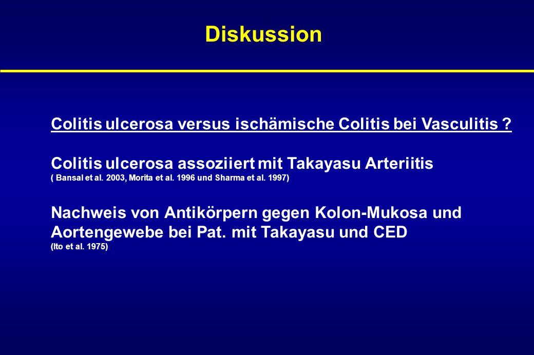 Pathomechanismus II Aktivierung von Gerinnungsfaktoren und Aktivierung der Koagulationskaskade vor allem bei aktivem Schüben von CED können zu thrombembolischen Ereignissen führen, z.B.