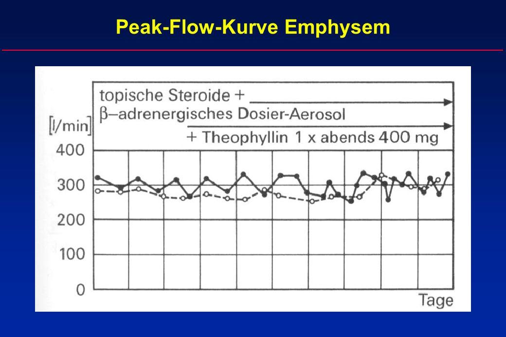 Peak-Flow-Kurve Emphysem