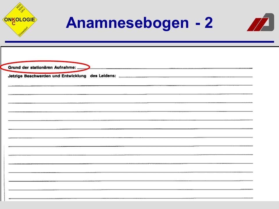 Dokumentation der Anamnese Chronologische Ordnung Präzise Beschreibungen Zusammenhänge eindeutig erkennbar Keine Diagnosen, sondern Beschwerden und Symptome Verständlichkeit für Unbeteiligten