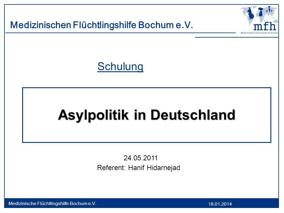 18.01.2014 Medizinische Flüchtlingshilfe Bochum e.V.