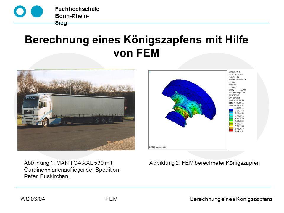 Fachhochschule Bonn-Rhein- Sieg 2 Overhead Gliederung des Vortrages: Einleitung Was wurde berechnet.