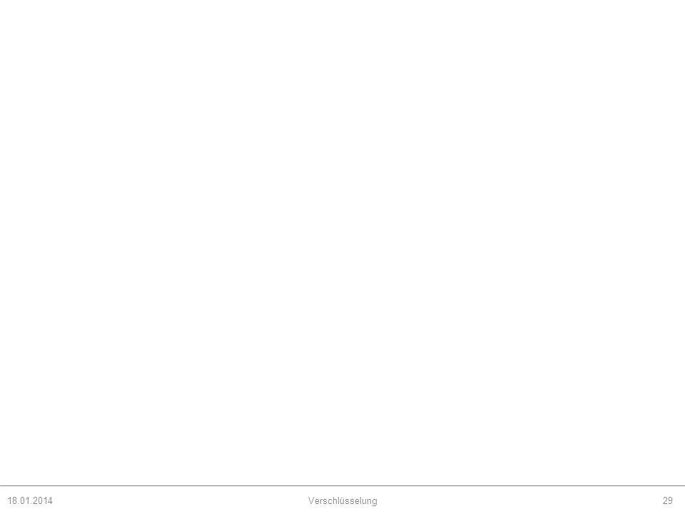 18.01.2014Verschlüsselung29
