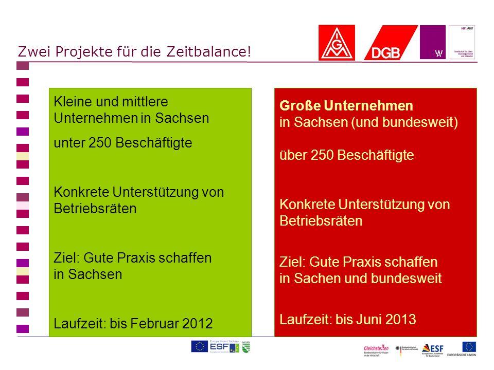 Kleine und mittlere Unternehmen in Sachsen unter 250 Beschäftigte Konkrete Unterstützung von Betriebsräten Ziel: Gute Praxis schaffen in Sachsen Laufz