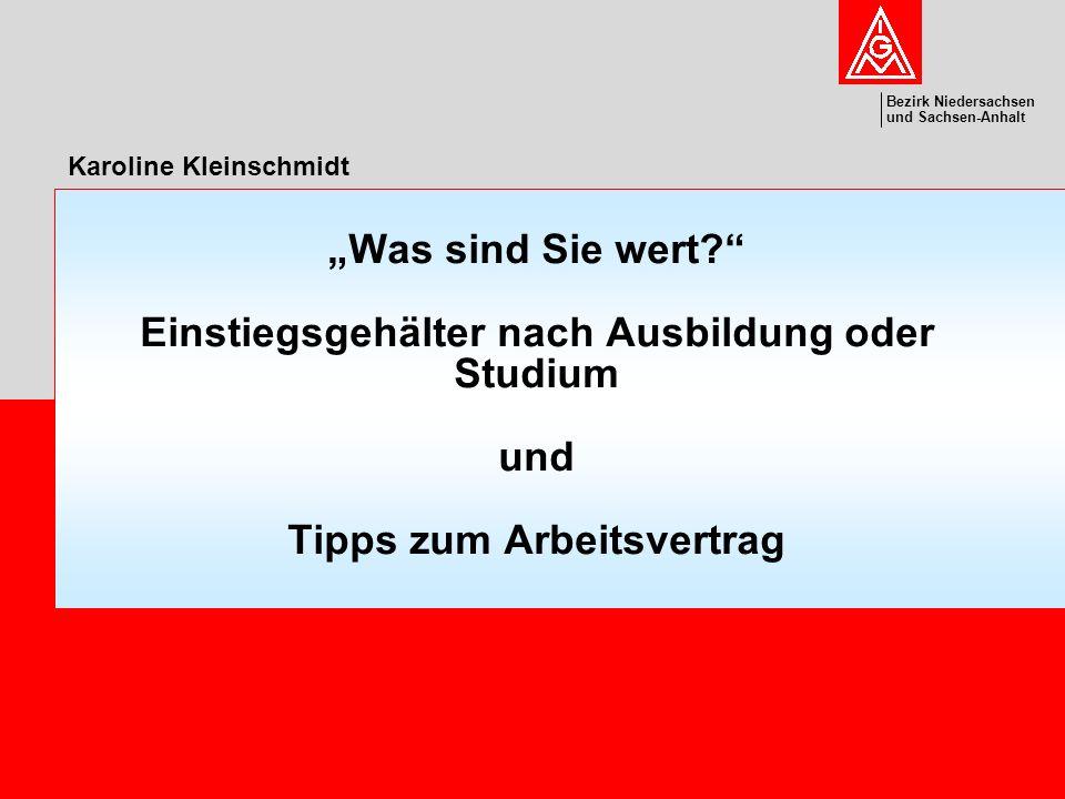 Bezirk Niedersachsen und Sachsen-Anhalt Bezirk Niedersachsen und Sachsen-Anhalt 2 Karoline Kleinschmidtcebit, 04.