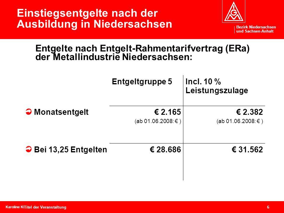 Bezirk Niedersachsen und Sachsen-Anhalt Bezirk Niedersachsen und Sachsen-Anhalt 6 Karoline Kleinschmidtcebit, 04.