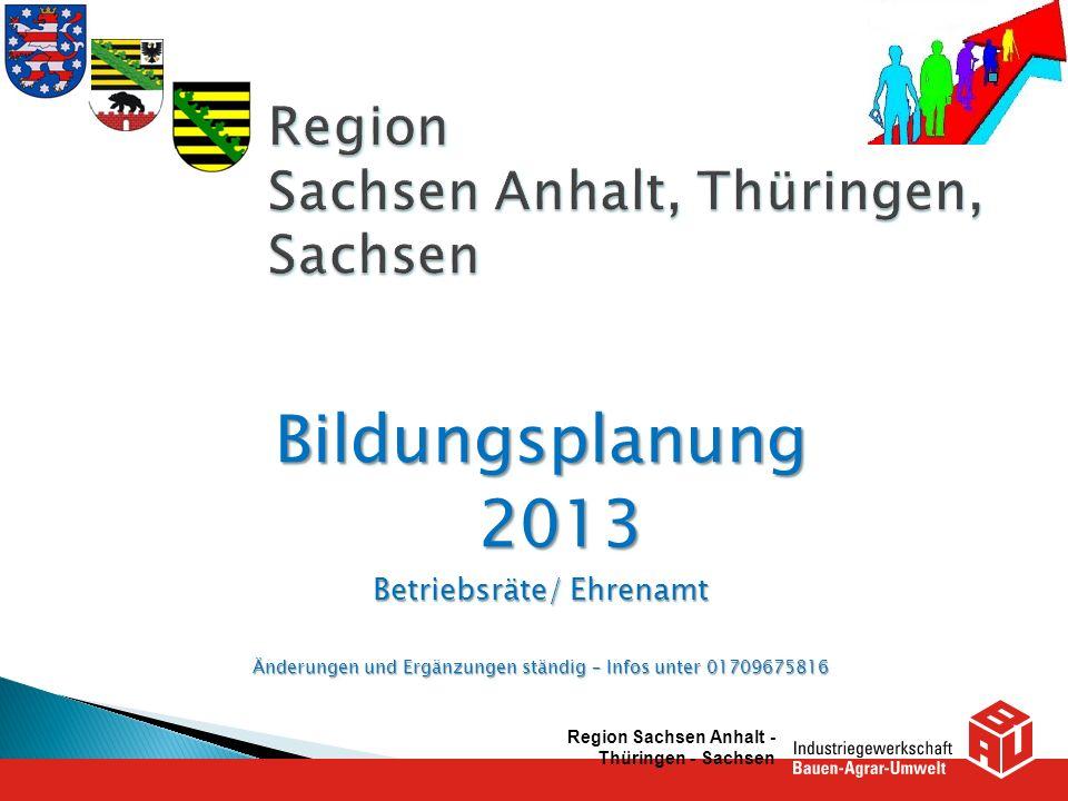 Monatliche BR- Schulungen durch Bildungswerk Steinbach BR-Schulungen 1.