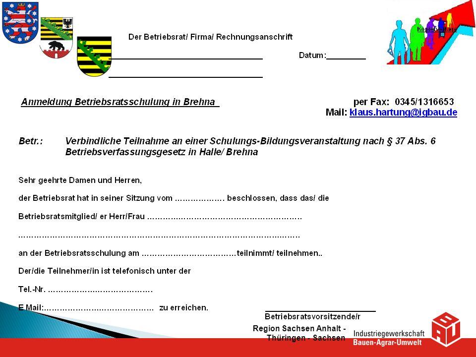 Region Sachsen Anhalt - Thüringen - Sachsen