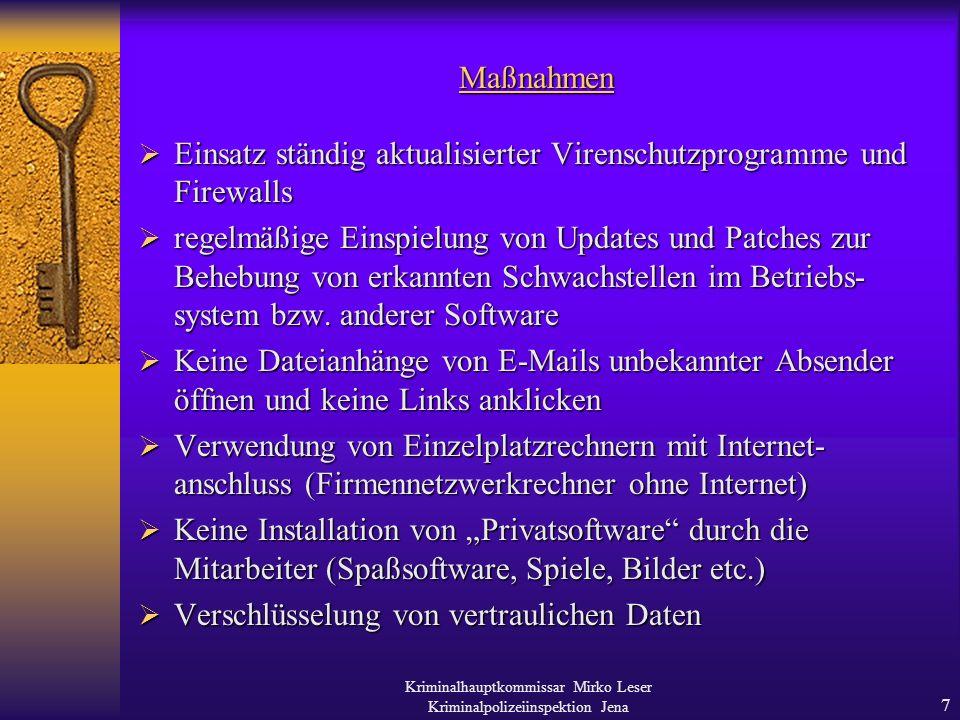 Kriminalhauptkommissar Mirko Leser Kriminalpolizeiinspektion Jena 6 2.
