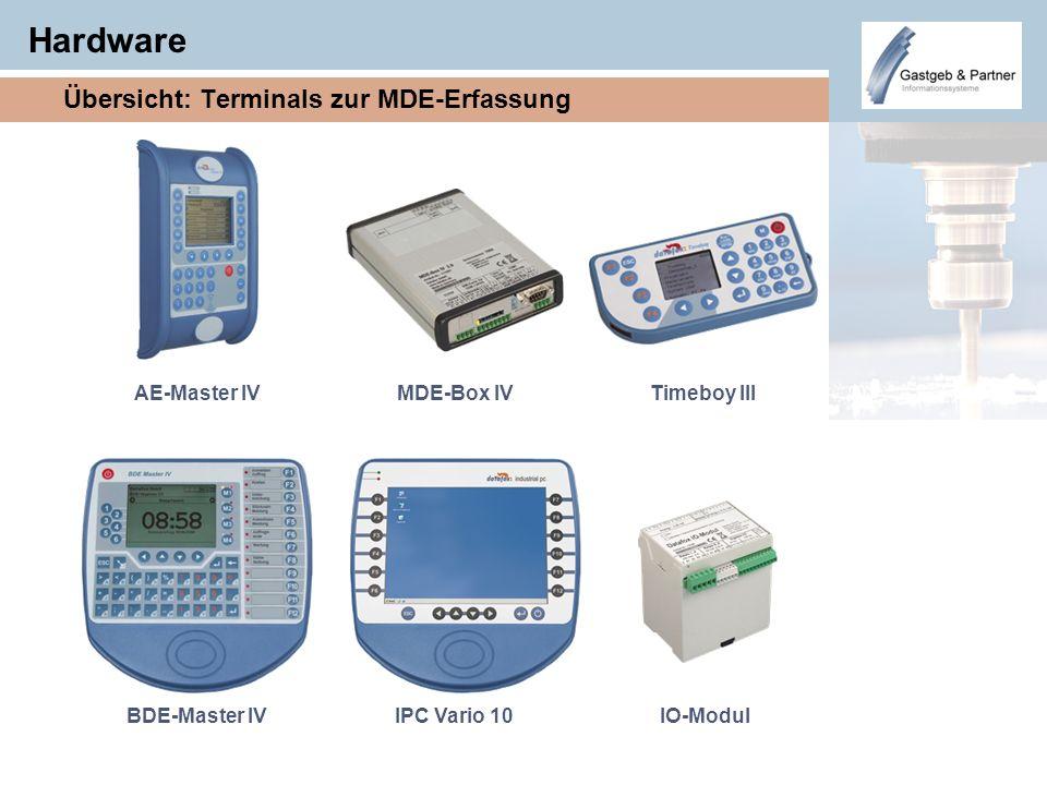 Hardware Übersicht: Terminals zur MDE-Erfassung MDE-Box IVAE-Master IVTimeboy III IPC Vario 10BDE-Master IVIO-Modul