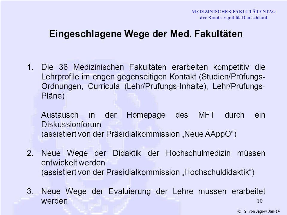 MEDIZINISCHER FAKULTÄTENTAG der Bundesrepublik Deutschland © G.