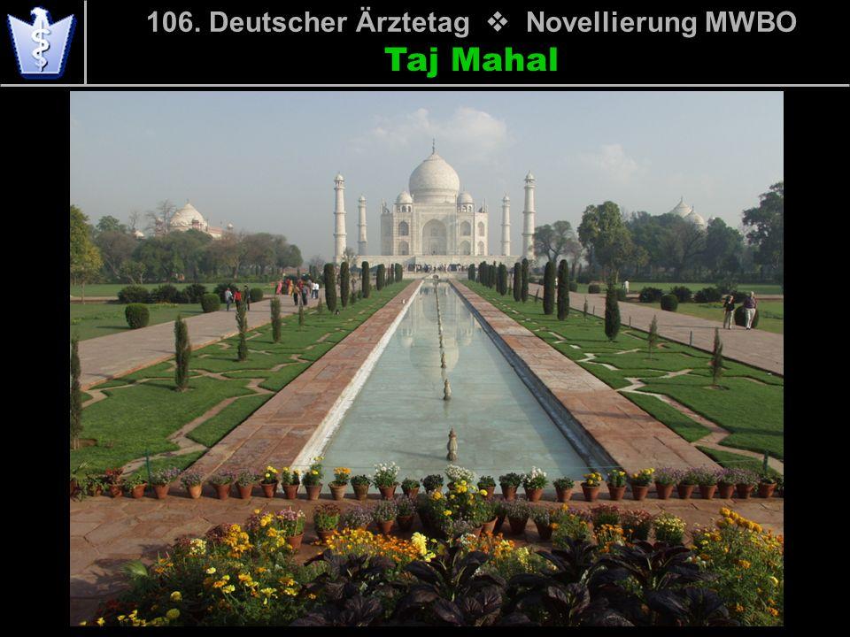 106. Deutscher Ärztetag Novellierung MWBO Taj Mahal