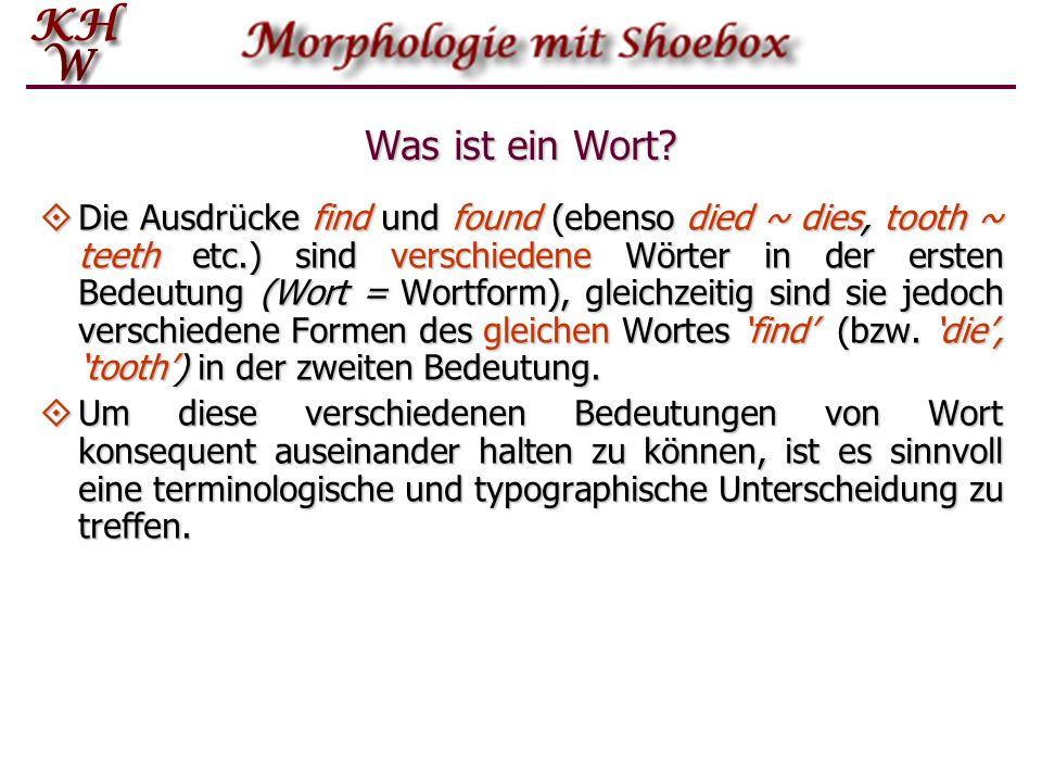 Morphe, Morpheme, Allomorphe Das Morphem ist eine Klasse äquivalenter Morphe.
